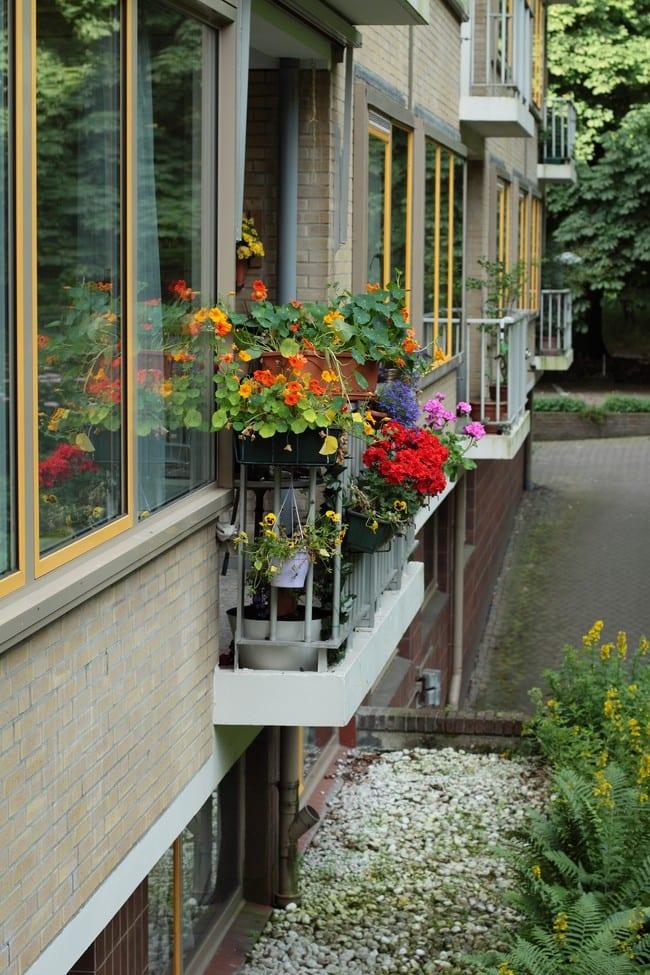 Gebouw balkon
